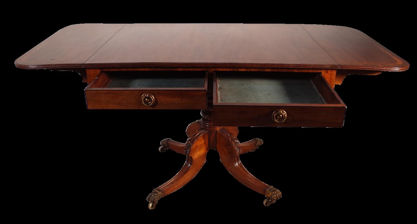 George iii mahogany sofa table with two drawers fontaine decorative george iii mahogany sofa table with two drawers watchthetrailerfo