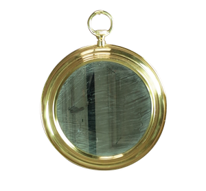 Brass Pocket Watch Mirror