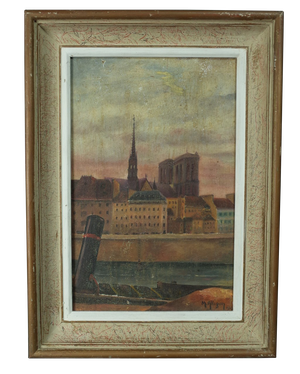 Oil on Canvas of Townscape