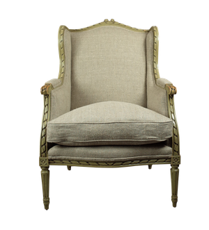 Painted Framed Wingback Bergere