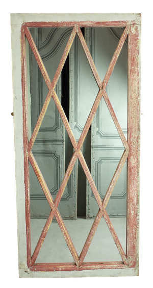 Painted Empire Lattice Window Mirror