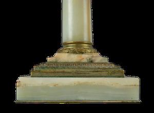 Onyx and Ormolu Corinthian Column Lamp
