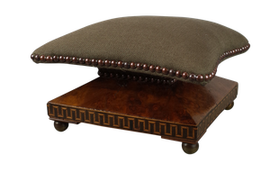 Victorian Walnut Parquetry Footstool