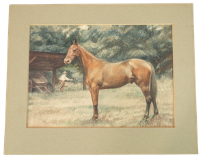 Watercolour of a Horse