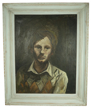 Oil on Canvas Portrait of Young Man