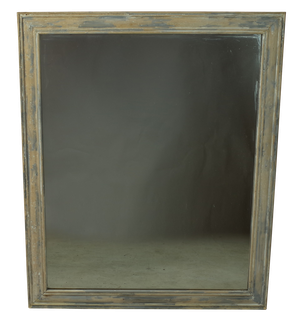 Large Mirror with Traces of Old Paint and Gesso