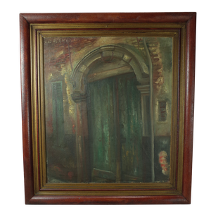 Oil on Canvas of Chateau Doorway