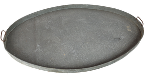 Large Oval Zinc Tray with Pine Base