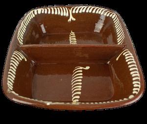 Slipware Divided Dish