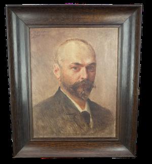Oil on Board Self-Portrait