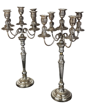 Pair of Silver Plated Candlebras