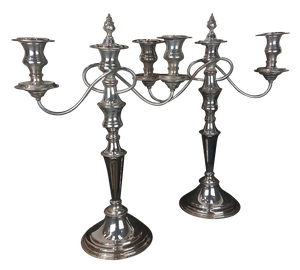 Pair of Silver Plated Candlebra