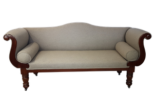 Mahogany Scroll End Sofa