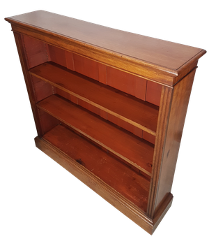 Mahogany Open Bookcase