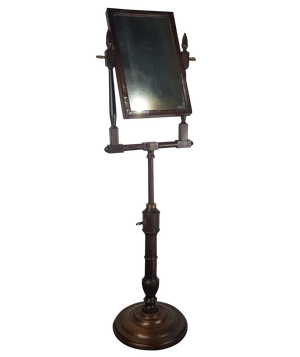 George III Walnut Shaving Mirror