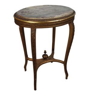 Marble Topped Parcel Gilt Table