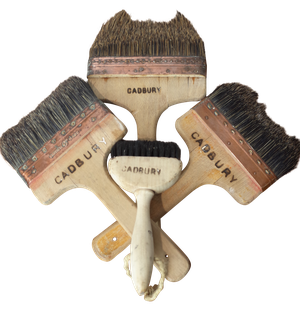 Four Copper Bound Paint Brushes from Cadbury