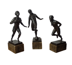 Three Deco Bronzed Spelter Figures of Athletes