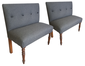 Two Upholstered Banquettes