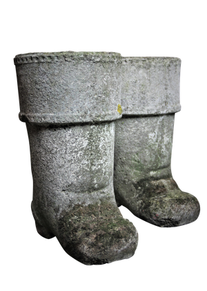 Pair of Composite Boot Planters