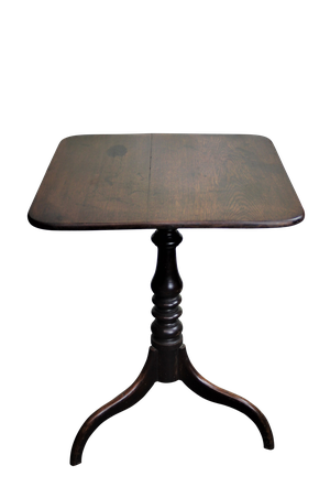 George III Oak Rectangular Tripod Table