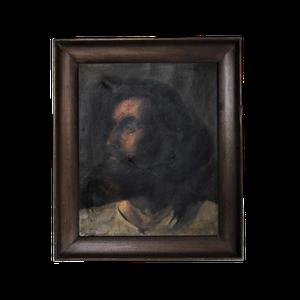 Oil on Canvas Portrait of Bearded Man
