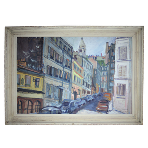Oil on Board of Paris Street
