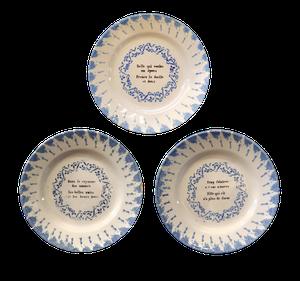 Three Spongeware Dishes