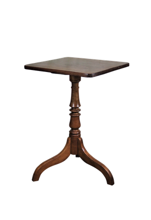 George III Mahogany Square Topped Tripod Table