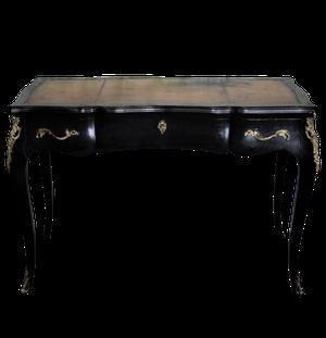 Empire Style Ebonised Leather Topped Desk