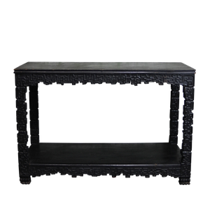 Chinese Export Black Lacquered Console