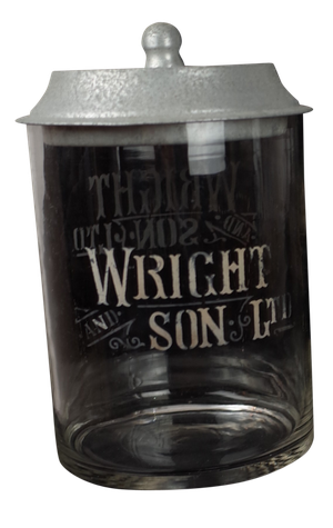 Wright and Son Biscuit Jar