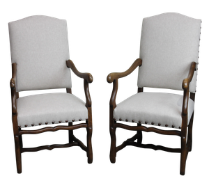 Pair of Os de Mouton Armchairs