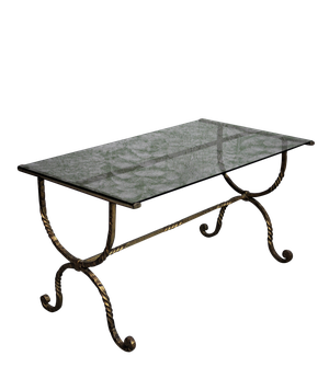 Gilt Metal Low Table