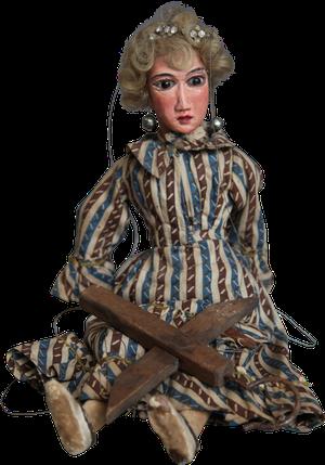 Dressed Polychromed Puppet