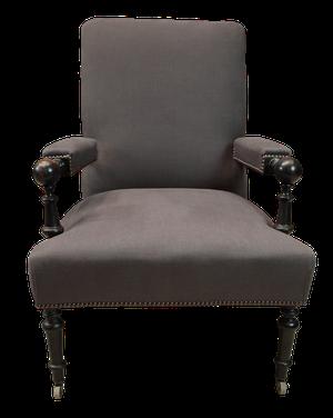 Ebonised Napoleon III Armchair