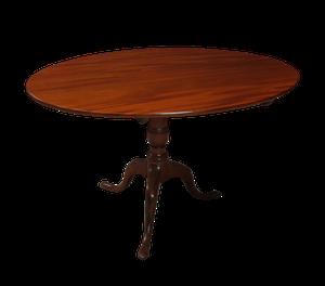 George III Flame Mahogany Oval Tilt Top Breakfast Table