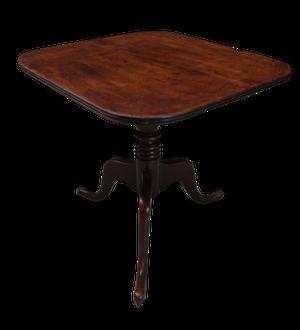Mahogany Square Top Tripod Table