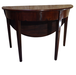 George III Mahogany D-end Drop Leaf Table