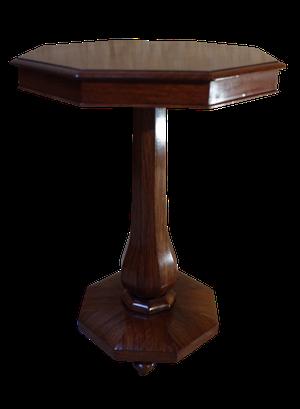 Oak Veneered Hexagonal Tilt Top Pedestal Table