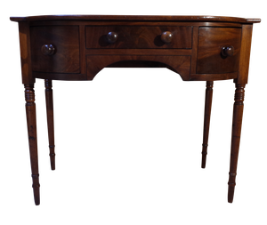 Mahogany Bow Fronted Desk