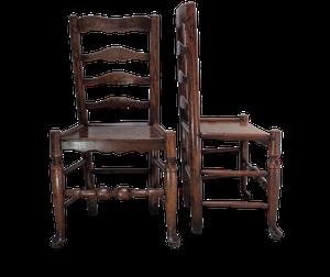 Pair of Welsh Elm Ladderback Chairs