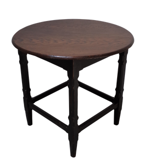 Oak Topped Tavern Table with Original Painted Pine Base