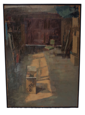 Oil on Canvas of an Artists Studio