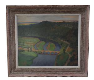 Oil on Canvas of The Seine by Listed Artist