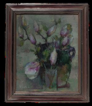 Oil on Canvas of Magnolias Still Life