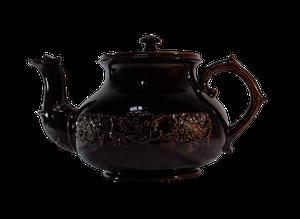 Huge Brown Treacle Glazed Teapot