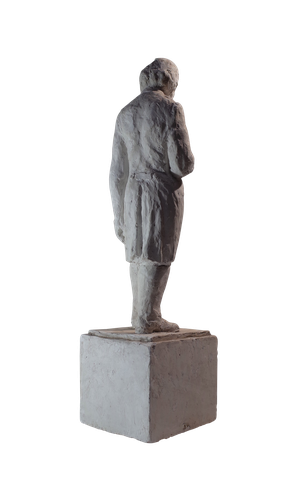Plaster Figure of Distinguished Man in Overcoat
