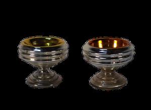 Pair of Mercury Glass Salts
