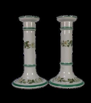 Pair of Ceramic Minton Candlesticks